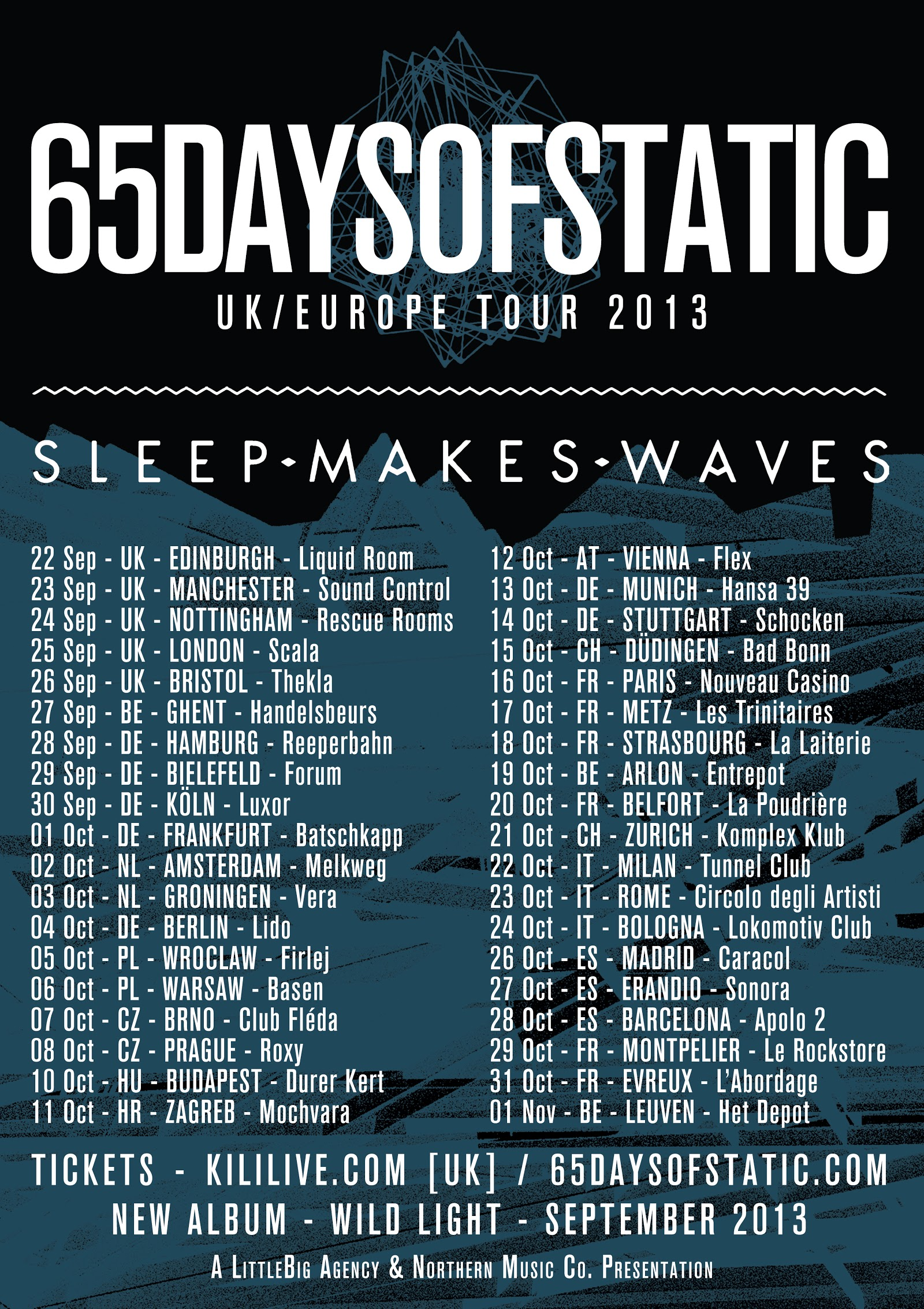 UK & Europe tour with 65daysofstatic
