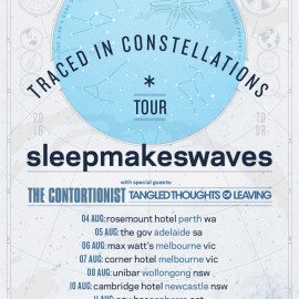 'traced in constellations' Australian headline tour announced w/The Contortionist + Tangled Thoughts of Leaving