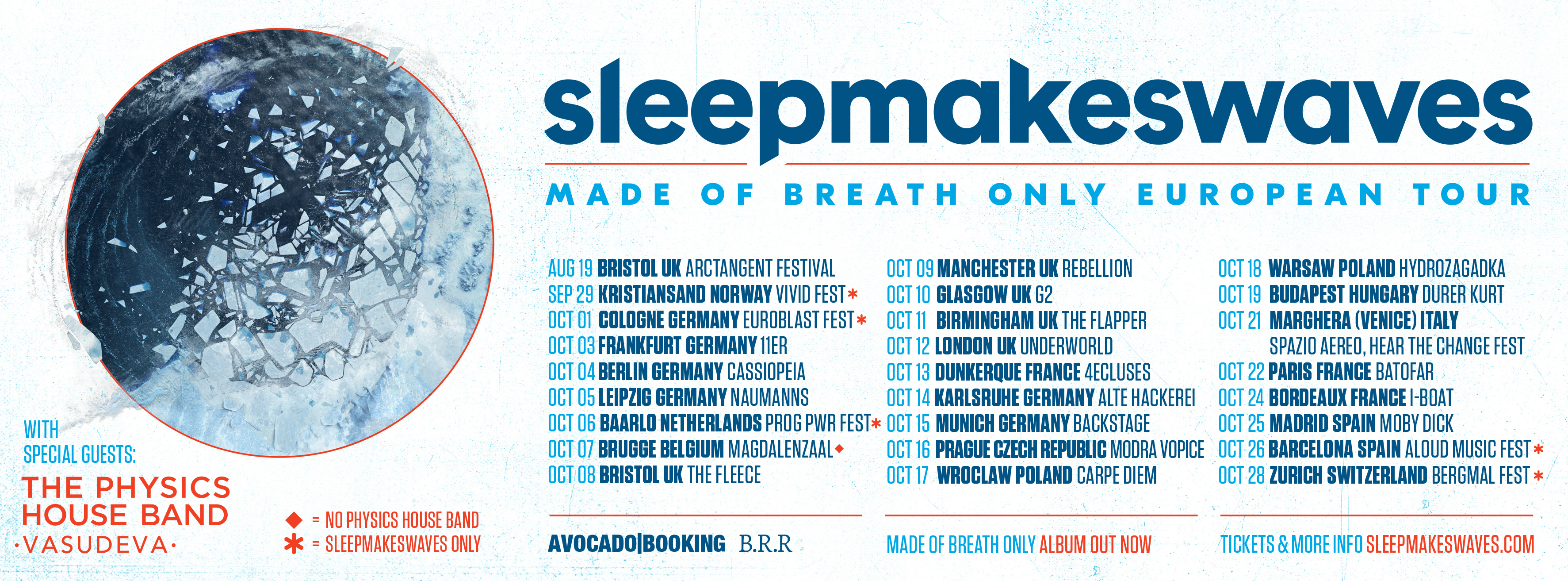 UK & EUROPE 'MADE OF BREATH ONLY' HEADLINE TOUR