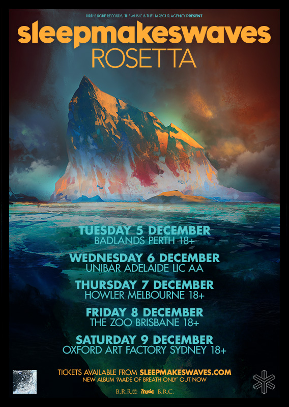 Australian headline tour with special guests Rosetta (USA) – December 2017